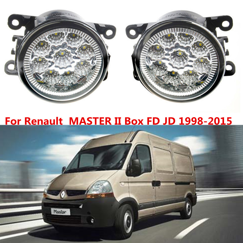 For Renault  MASTER II Box FD JD 1998-2015 Car styling LED fog Lights high brightness fog lamps 1set for lexus rx gyl1 ggl15 agl10 450h awd 350 awd 2008 2013 car styling led fog lights high brightness fog lamps 1set