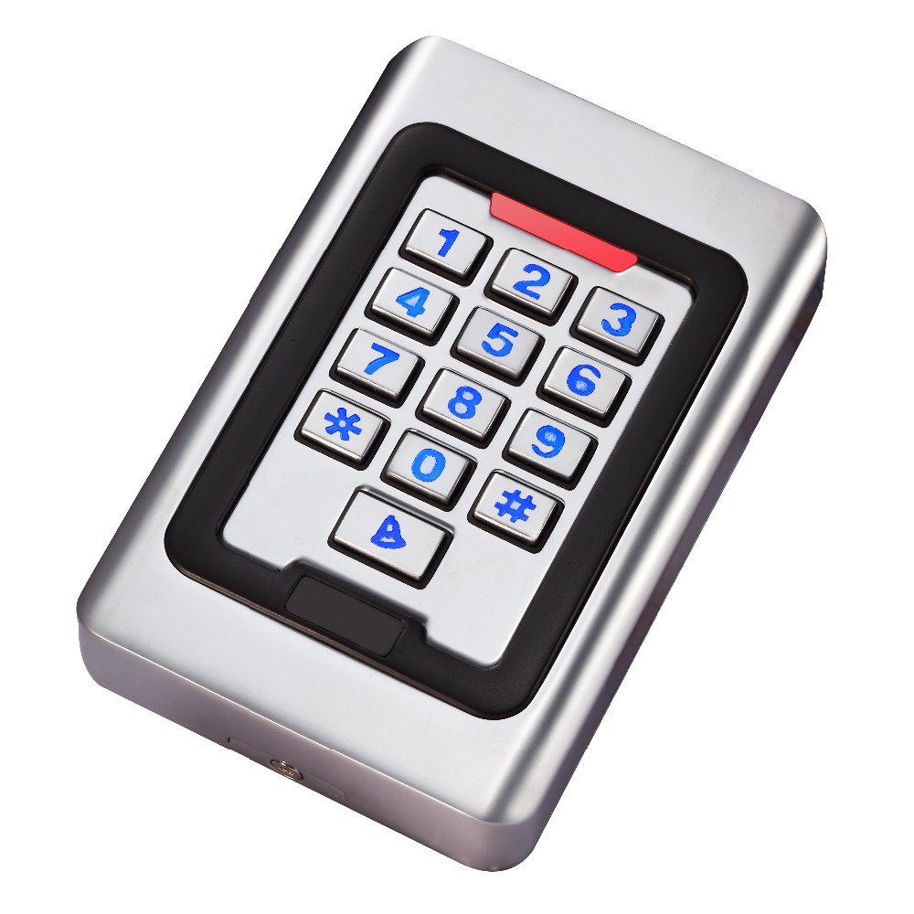 IP68 Waterproof Outdoor LED Keypad Metal 125khz Standalone Access Control metal rfid em card reader ip68 waterproof metal standalone door lock access control system with keypad 2000 card users capacity