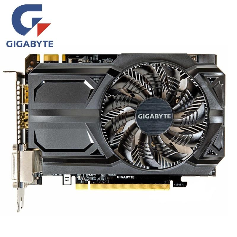 GIGABYTE GTX 950 GB Placa De Vídeo GV-N950OC-2GD 2 D5 GDDR5 N950D5 2GD Placas Gráficas para nVIDIA Geforce GTX950 2G hdmi Dvi Cartões