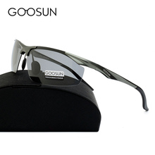 GOOSUN Aluminum Men's Polarized Sun Glasses Driving Fishing Outdoor Accessories Sunglasses For Men luxury brand Eyewears Gold