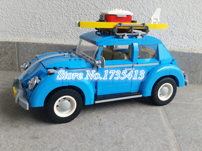 2017 New AIBOULLY 003 1193Pcs Creator Volkswagen beetle Model Building Kits minis Bricks Toys Compatible with 10252 DIY volkswagen new beetle 2005 2009 кабриолет