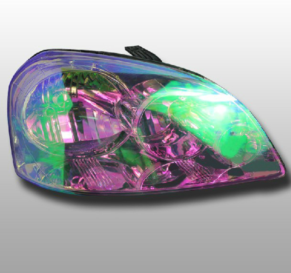 Image 5 - Chameleon Neo Chrome Pearl Headlight Taillight Tint Protection Car Head light Fog Lamp Vinyl Film Wrap-in Car Stickers from Automobiles & Motorcycles