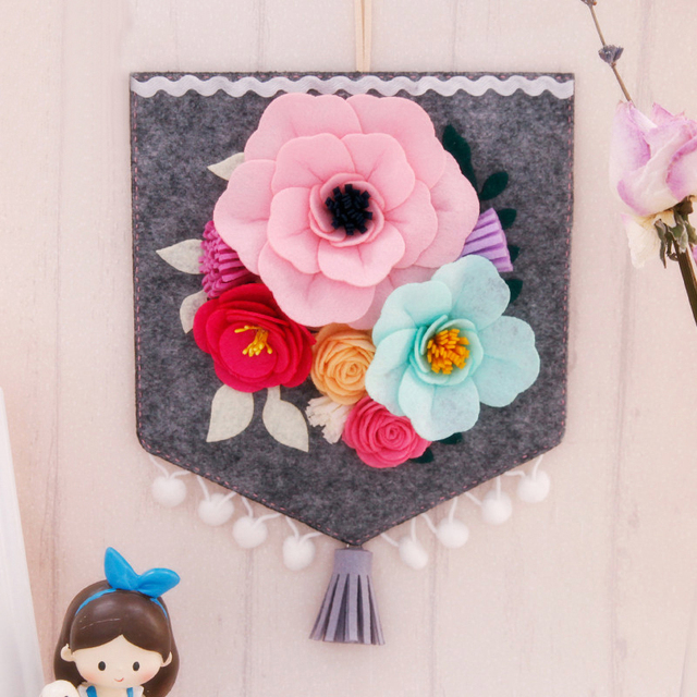 New Nordic Pendant Handmade Flag Style Wall Flowers for Living Room ...