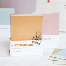City color card note paper message sticker creative student stationery