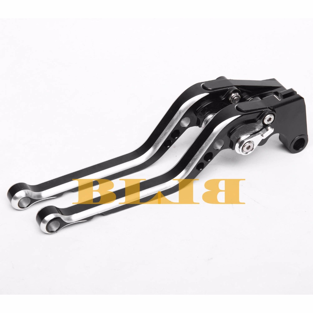 ФОТО For Kawasaki Z750 (not Z750S model) 2007-2012 Hot Sale Mixed Color Motorcycles Brake Levers CNC levers multicolor Long Levers
