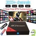 1 año europa italia árabe 2000 + canales de iptv android 6.0 tv box E8 HD apoyo H.265 4 K HDMI2.0 DLNA Smart mini pc android tv caja