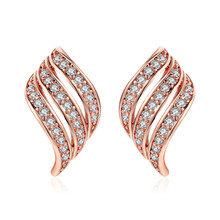 PISSENLIT Hot Women Jewelry Statement Charms Small Gold Stud Earring Arc Shape Earrings Silver Wedding Gifts For Woman