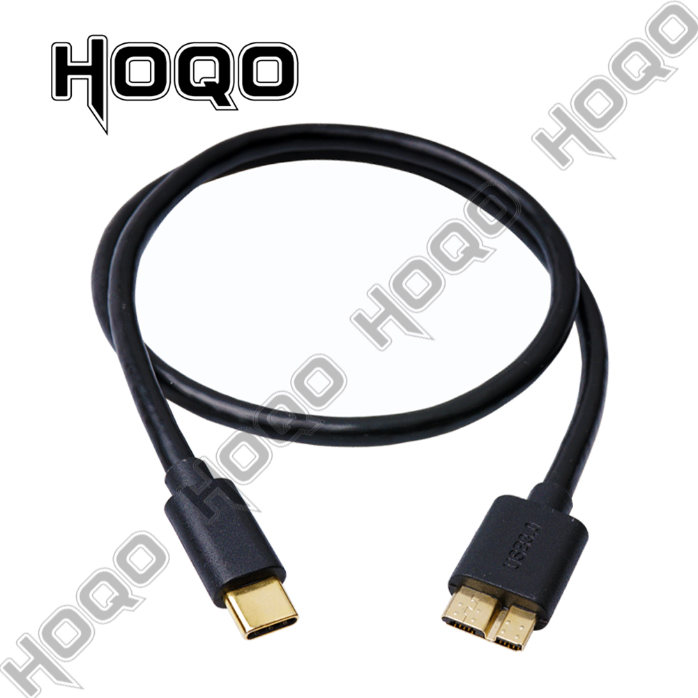 USB 3.0 Type A Male To Micro B Male Cable 5 Gbps Gold Plated Connector Black New