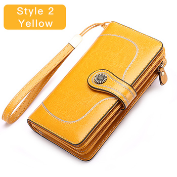 Vintage Style Split Leather Women's Wallet Bags and Wallets Hot Promotions New Arrivals Women's Wallets Color: Style 2 Yellow Ships From: Russian Federation