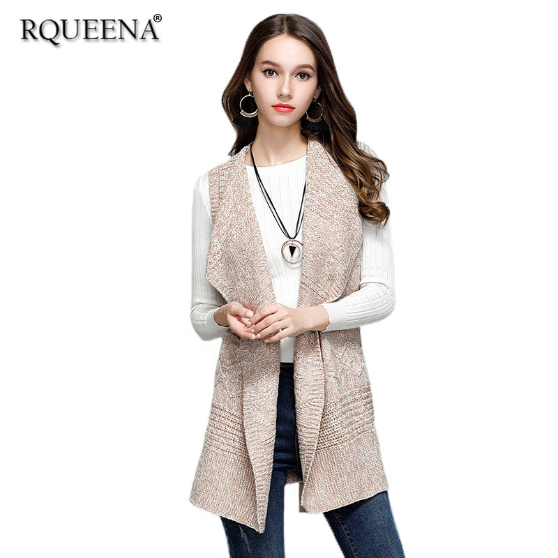 High Quality Fashion Sweater Cardigan Womens Cardigans And Coats Knitted Long Thick Turn-Down Collar Loose Cardigan Women