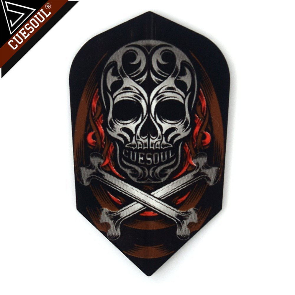 CUESOUL 9pcs Professional Dart Flights Dart Tails Wings Cool Skull With Very High Quality