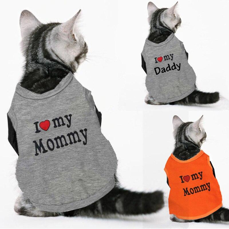 весна-лето кота собаки любимчика жилет футболки