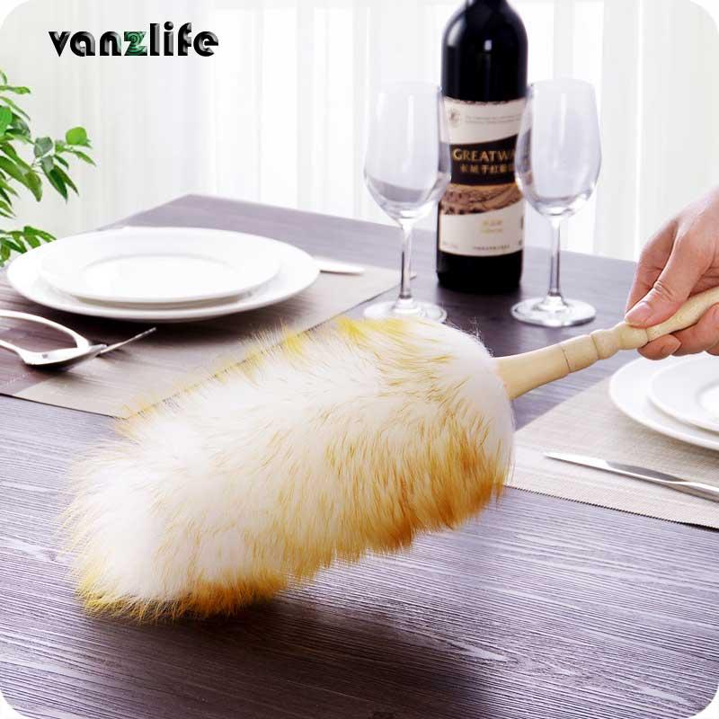 Vanzlife de la brosse à poussière ménage plumeau dépoussiérage nettoyage brosse laine plumeau brosse pour balai à poussière
