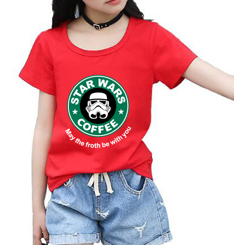 Vendita Calda 2018 Di Marca Di Abbigliamento Di Moda Stella Guerra T Shirt Divertente Top Streetwear Bambini Manica Corta Casual Hip Hop Ragazze Vestiti