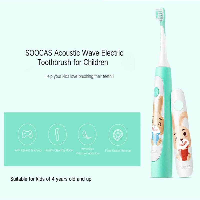 Xiaomi SOOCAS C1 impermeable sonic cepillo de dientes eléctrico para los  niños de carga inalámbrico recargable Ultra sonic cepillo de dientes en  Cepillos de ... 88f4a1e39c38