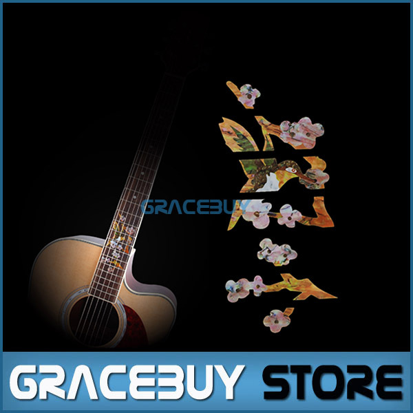 Inlay Stickers Hummingbird Pick Flowers Guitar Fret Markers For Acoustic Electric Guitarra Fertboard New