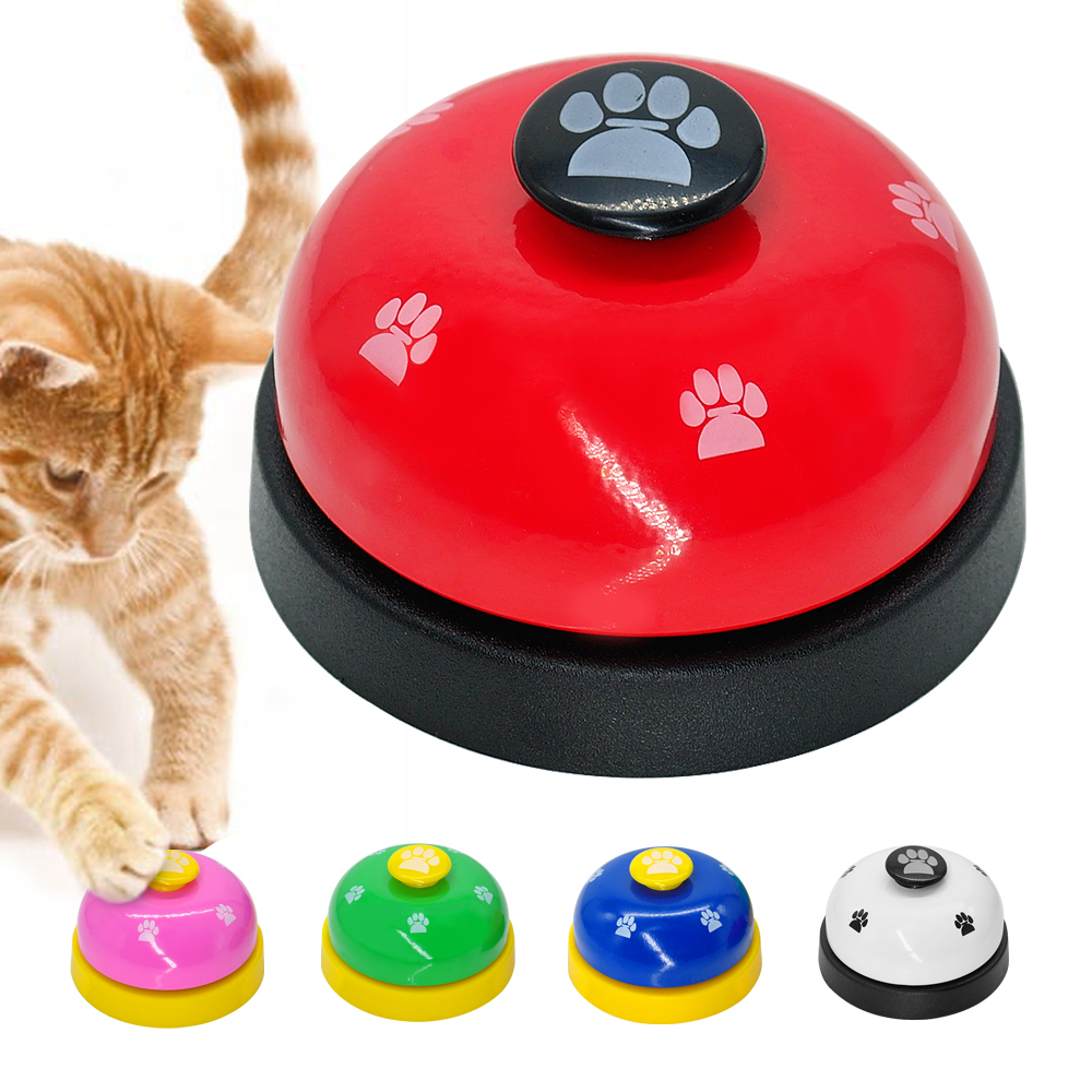 Cat Call Bell Dog Feeding Ringer Pet Educational IQ Training Squeak Toy Interactive Pets Kitten Toys Eating Food Feed Reminder