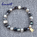 Freshwater pearl bracelet titanium animal irregular Baroque Pearl Bracelet
