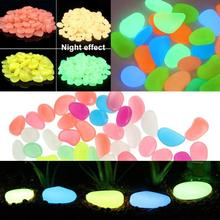 100/50pcs Glow In The Dark Luminous Pebbles Stones for Weddi