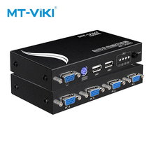 MT-Viki 4 Port VGA switch USB KVM hosts share one monitor and set of mouse keyboard automatic switchover MT-471UK-L