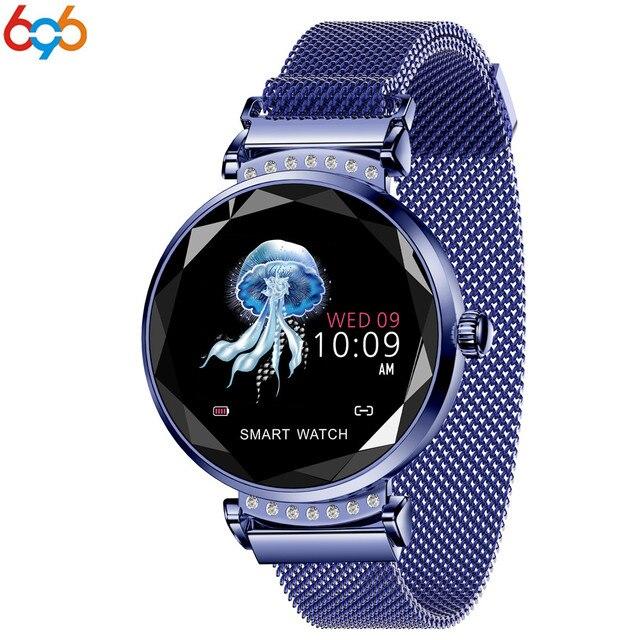 574dbfd3e443 Reloj de pulsera inteligente para mujer con Monitor de ritmo cardíaco  Menstrual 696
