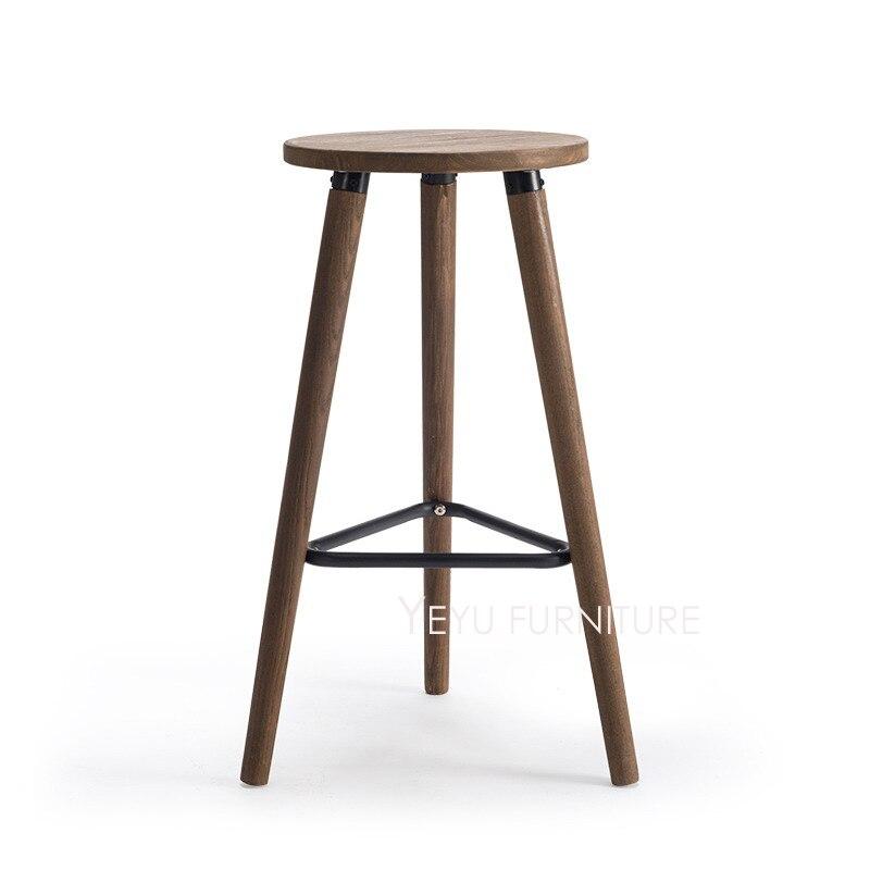 Best Modernen Design Holz Und Metall Loft Stil Barhocker Mode Industrie  Loft Barhocker Beliebte Stahl Bar Stuhl In Modernen With Barhocker Leiner