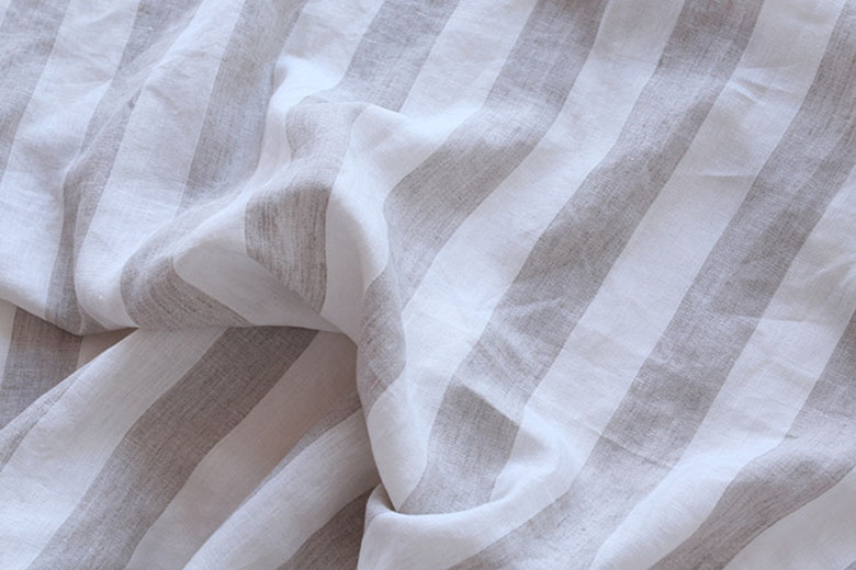 Super Width 280 Cm 100 Linen Fabric For Bedding Sheets Curtains 110 Inches Wide Stripe Colors 1 Meters Sample Testing In From Home Garden On