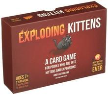 Vybuchující koťata Rozšiřující karetní hra pro 2-5 hráčů Hra pro domácí party Rodinná zábava rozšiřitelná hra