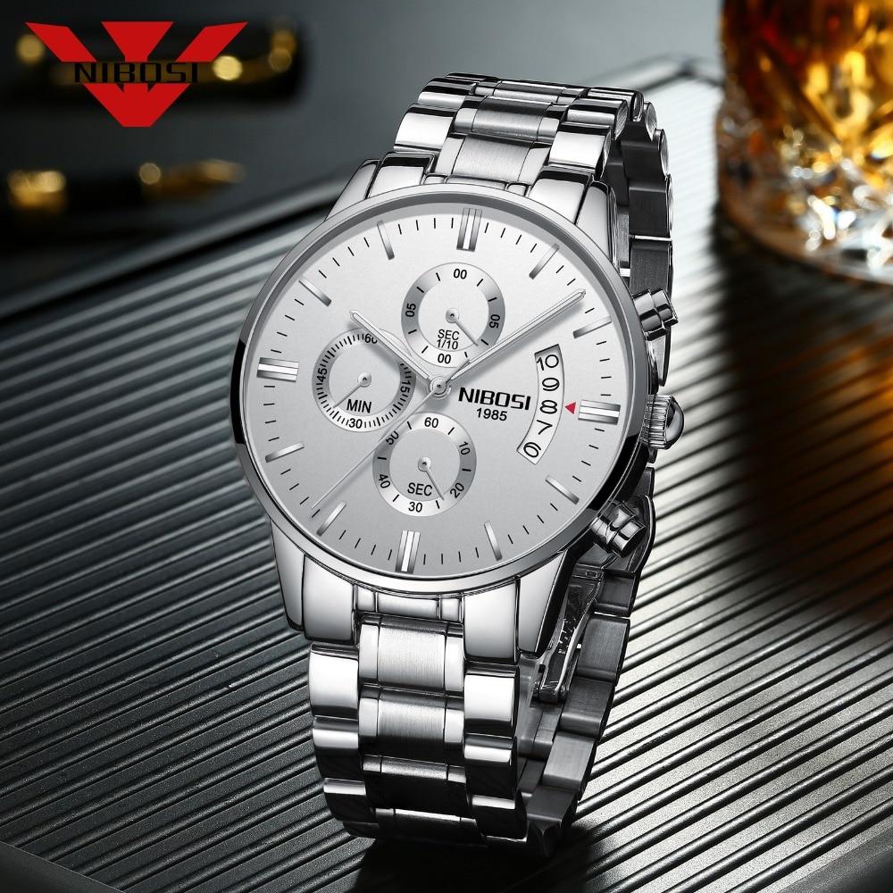 NIBOSI Watch Men Top Luxury Brand Sport Watches Men Fashion Casual Quartz Wristwatches Male Military Clock Relogio Masculino