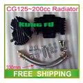 CG125 CG150 CG200 CG250 250cc 125cc sujeira pit da bicicleta da motocicleta sistema de refrigeração do radiador liga de prata acessórios frete grátis