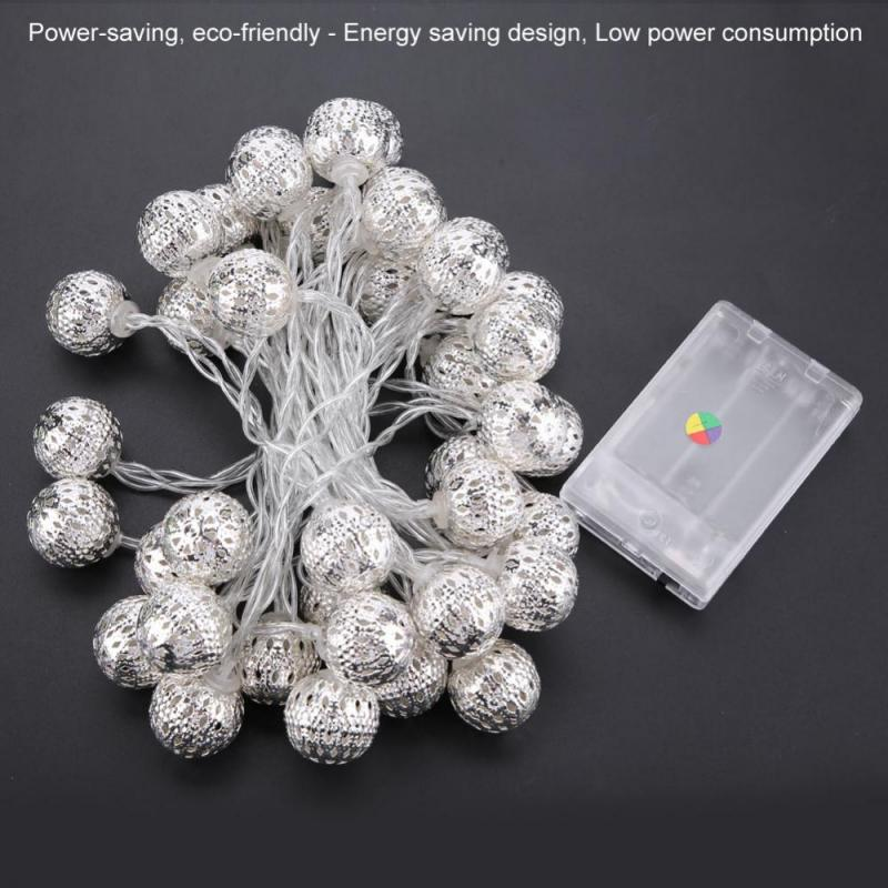 5M 40 LED String Lights Ball Fairy String Light for Bedroom Lawn Landscape Garden Home Holiday Party Decor guirlande lumineuse in Lighting Strings from Lights Lighting