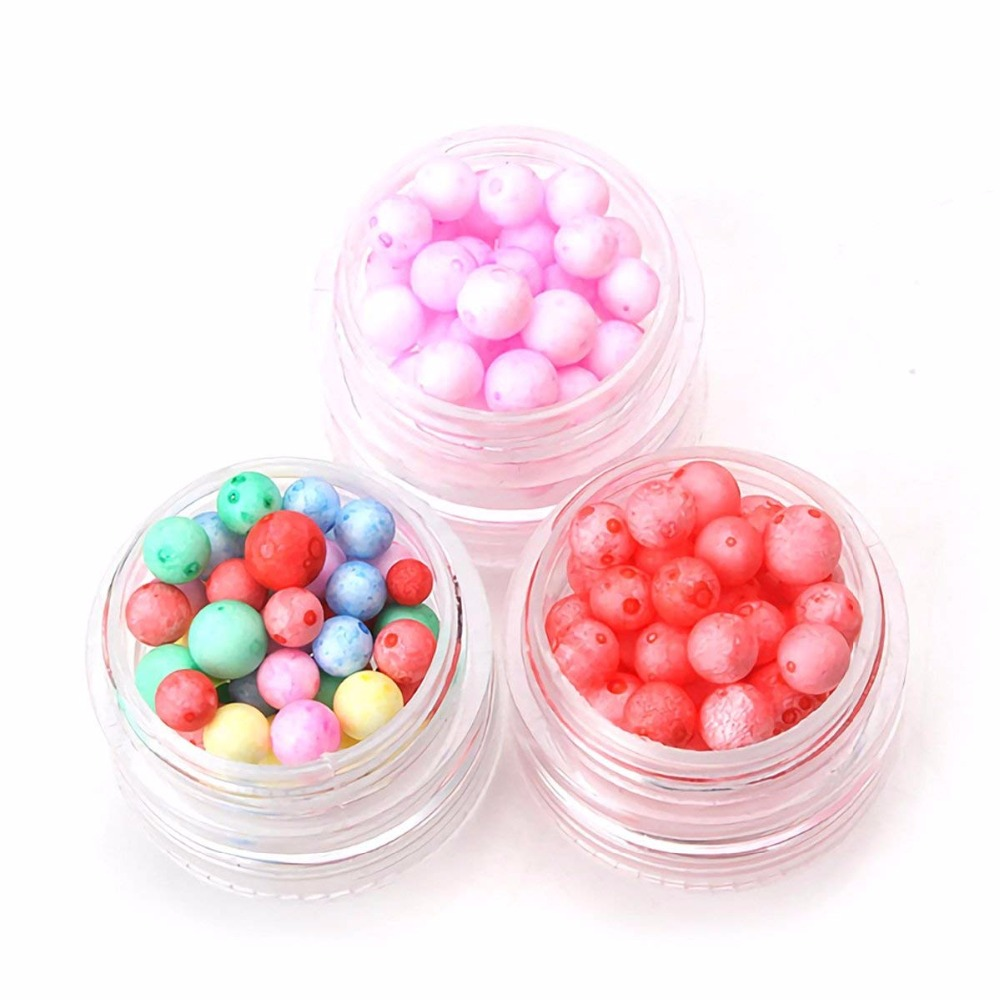 Colorful Styrofoam Foam Balls for Slime Party Decoration Polystyrene Beads for Kid 39 S Handmade Slime Making Art DIY Crafts Home in Ball Ornaments from Home amp Garden