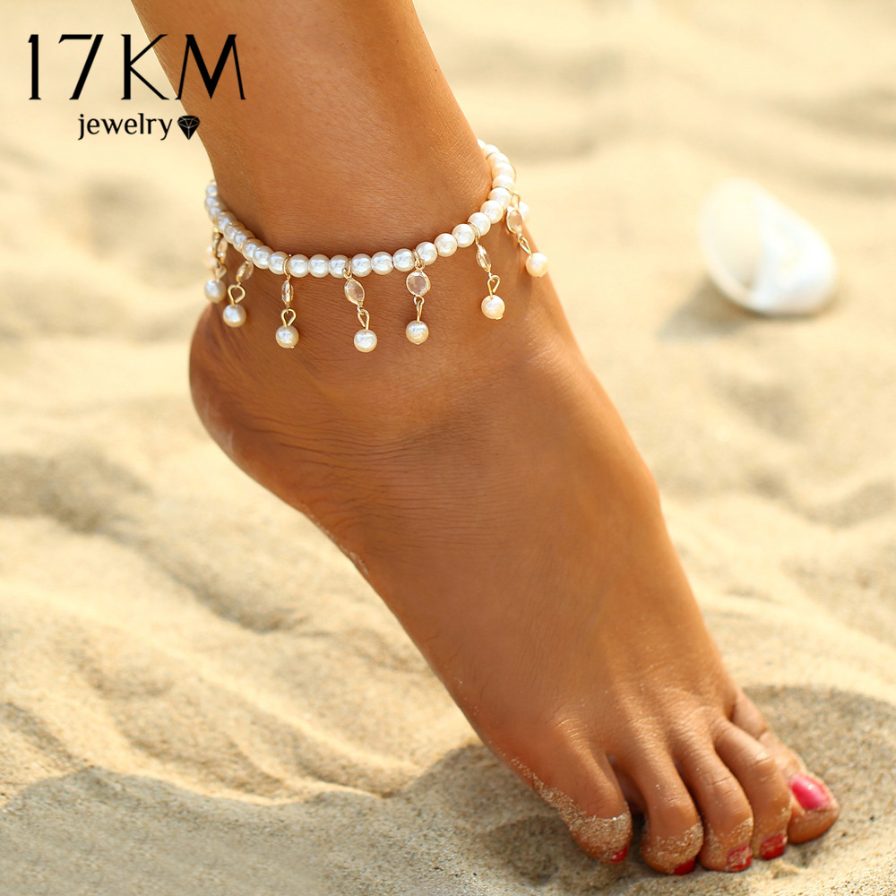 foot pearl imitation pulseras for bracelets gifts ankle bracelet mujer women item anklet from anklets in sandals female tobilleras sexy jewelry bohemian