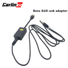 3.5mm Audio Input AUX to USB Audio Output For Mercedes Benz A/B/C/E/GLC/GLA ( 7'' screen )(China)