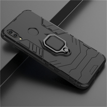 Armor Case With Finger Ring Kickstand Shockproof Dual Layer Back Cover For Huawei Y6 2019/Y7 Prime Pro 2019