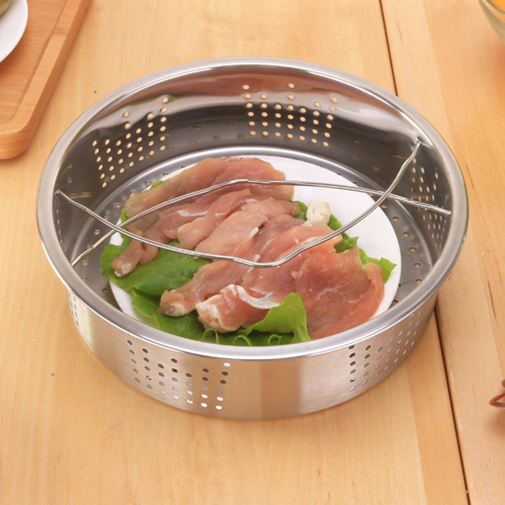 Stainless Steel Steamer Basket Steaming Tray With Handle Rice Cooker Steamer Multi-Function Fruit Cleaning Draining Basket 40