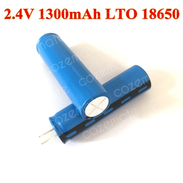 10pcs 20C LTO 18650 2 4v 1300mAh Lithium Titanate Battery Cell