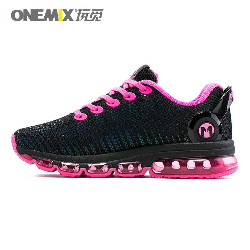 ONEMIX 2018 New Style Women Running Shoes Colorful Reflective Mesh Breathable Sport Sneakers Light Run Trainers Fitness