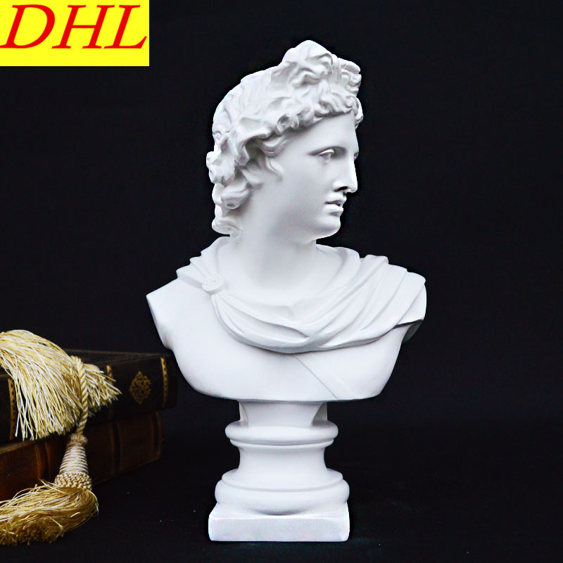 Retro Apollo Bust Figure Statue Wolfgang Amadeus Mozart Gypsum Resin Craftwork Continental Home Decorations Collectible L2120 animals bust retro horse head statue continental resin craftwork home decorations art material l2360