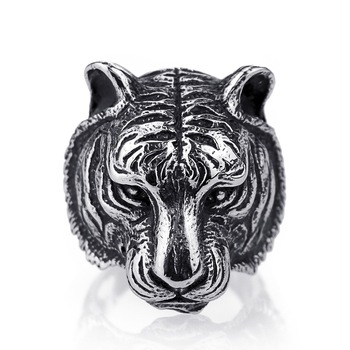 Tiger-Rings-For-Men-Silver-