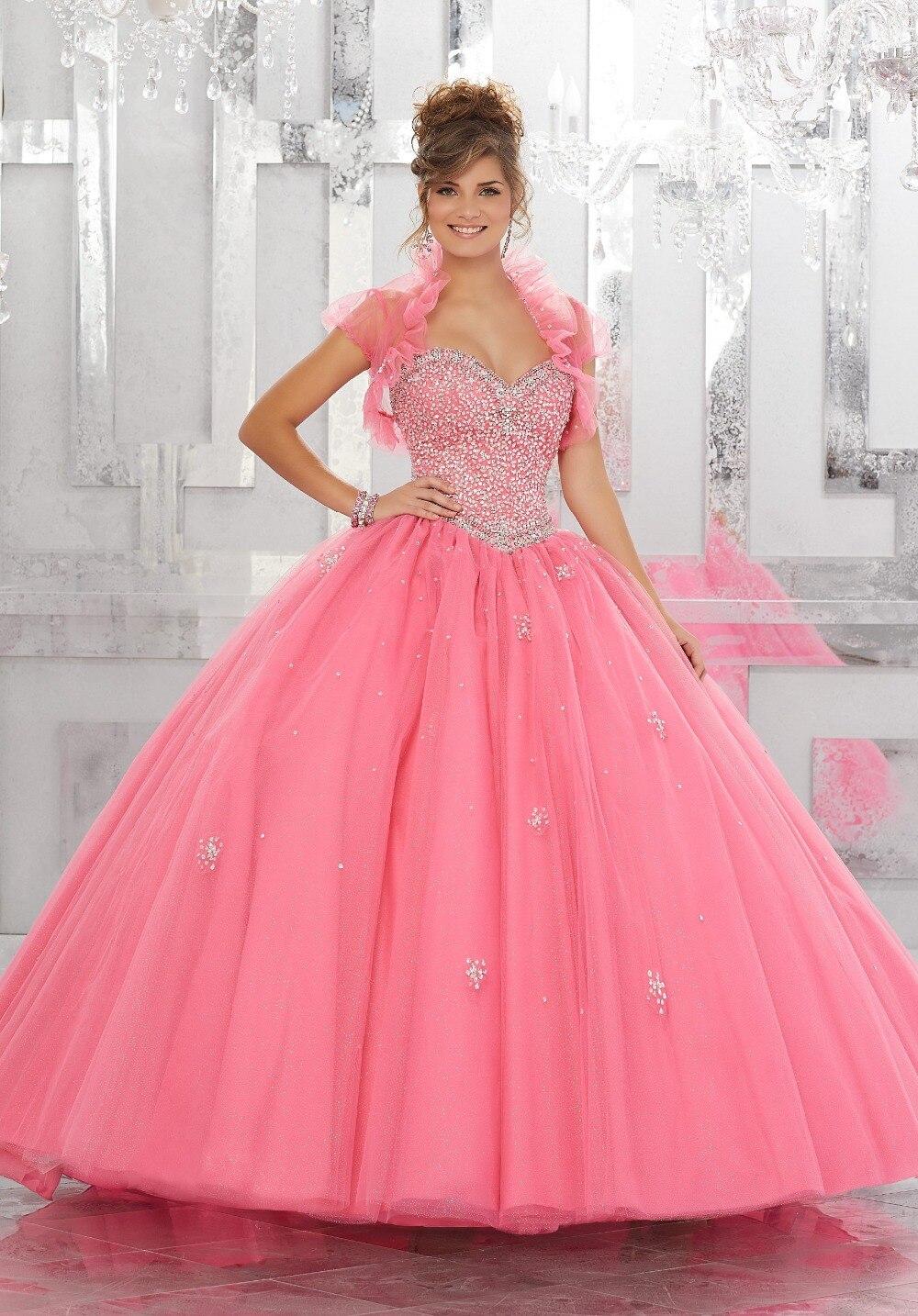 wejanedress coral quinceanera dress 2017 vestidos de 15 anos baratos ...