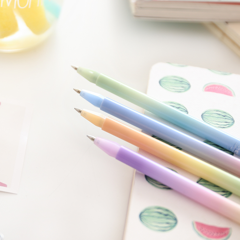36 pcs/Lot Dream color ball point pen Slim roller ballpoint pens Blue ink for writing Stationery Office school supplies 6 pcs set color gel pen starry pattern cute kitty hero roller ball pens stationery office school supplies