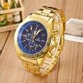 Excelente Calidad de Lujo de Los Hombres Relojes de Cuarzo Reloj de Los Hombres Relojes Relogio masculino Masculino Reloj de Cuarzo de Oro Para El Regalo De Navidad
