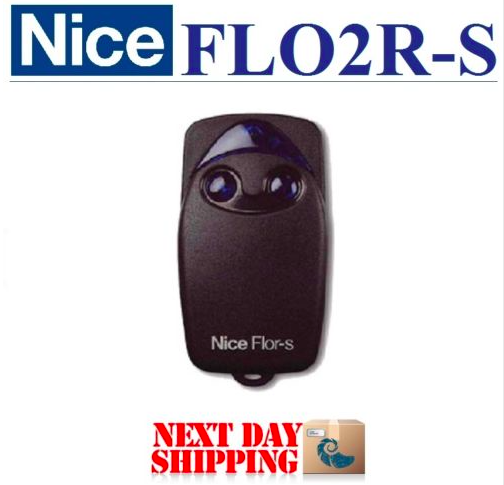 2 buttons 433.92mhz Nice Flor-s rolling code garage door replacement universal remote nice flor s replacement garage door remote control 433mhz rolling code dhl free shipping