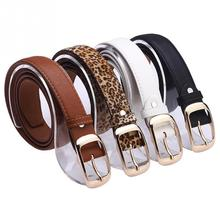Leather Wide Belts Woman Solid Belt Leopard Printed Waistband  Accessories Coffee Brown Blue  Belts Unisex Waist Strap