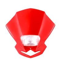 Motorcycle Headlight Motorcycle Dirt Bike Motocross Universal Headlamp Motorcycle Led Headlight Lampada Moto Fan Shape AS 009