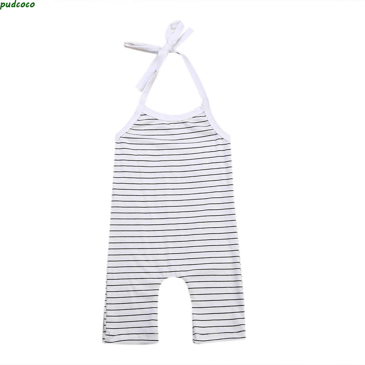 Pretty Newborn Baby Girl Boy Clothes Lovely Striped Romper Summer Sleeveless Backless Toddlers Jumpsuit Outfits Sunsuit Clothes