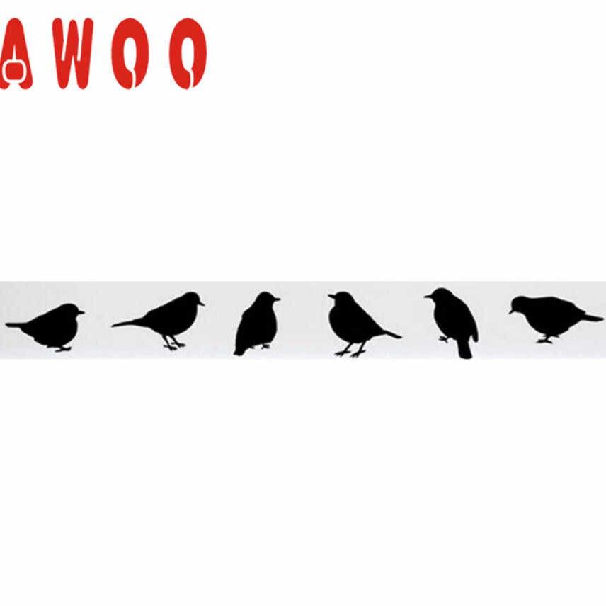 Stiker Dinding 2017 Baru Hitam DIY Burung Terbang Seni Dinding Stiker Vinil Yang Dapat Dilepas Stiker Mural Hom Lucu Dinding Seni Dekorasi 17MAY11