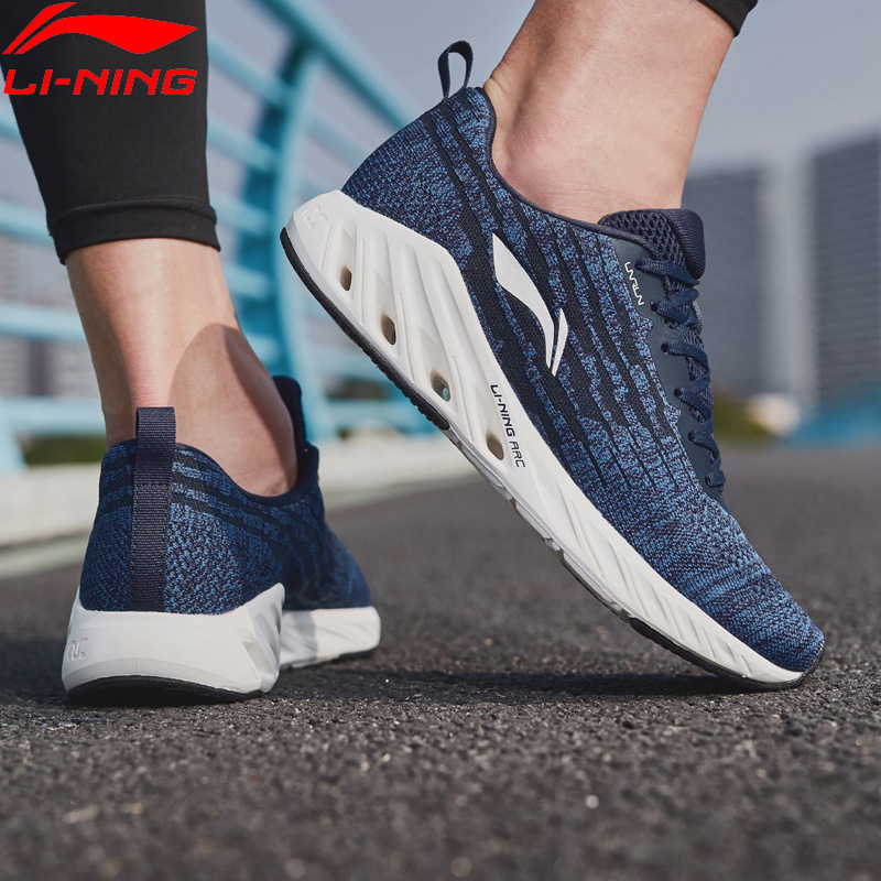 Li-Ning Men LN ARC 2018 Cushion Running Shoes Mono Yarn Breathable LiNing Li Ning Wearable Sport Shoes Sneakers ARHN083 XYP805