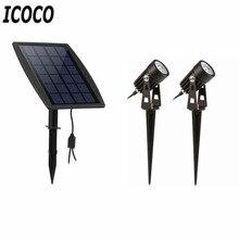 ICOCO New Waterproof IP65 Outdoor Garden LED Solar Light Super Brightness Garden Lawn Lamp Landscape Spot Lights Promotion Sale